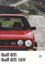 Golf GTI & GTI 16V brochure, 20 pages,  A4-size, Dutch language, 08/1986