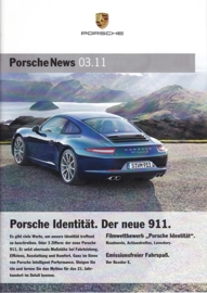 News 03/2011 with 911 Carrera, 28 pages, 09/11, German language