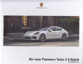 Panamera Turbo S E-Hybrid brochure, 40 large pages, A4-size, 02/2017, hard covers, German language