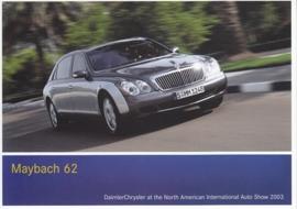 Maybach 62, A6-size postcard, NAIAS 2003