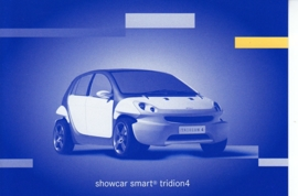 Smart Tridion4 show car, A6-size postcard, IAA 2001