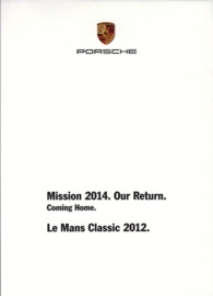 Le Mans Classic 2012, A6-size set with 10 postcards in white cover, 2013, WPCZ 7701 0001 00