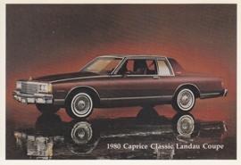 Caprice Classic Landau Coupe,  US postcard, standard size, 1980