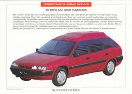 Xantia Break Service leaflet, 2 pages, 04/1997, Dutch language