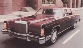 Continental Town Car, US postcard, standard size, 1978