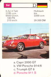 911 S Coupé - number 5d - size 10 x 6,5 cm, German language