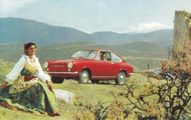 850 Coupé, standard size, Italian postcard, undated, about 1967