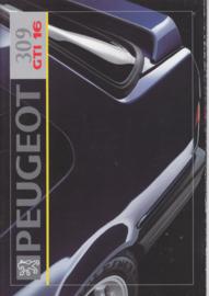 309 GTi 16 brochure, 16 pages, A4-size, 1992, Dutch language