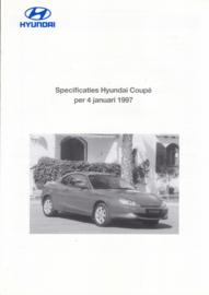 Coupe pricelist brochure, 4 pages, 01/1997, Dutch language