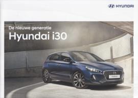 i30 Hatchback brochure, 8 pages, 04/2017, Dutch language
