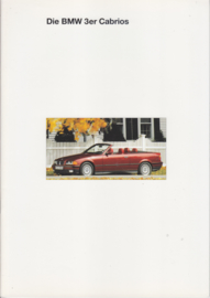 3-Series Cabriolet brochure, 34 pages, A4-size, 1/1994, German language