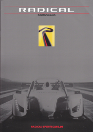 Radical Sports Cars brochure, 28 pages, A4-size, 2017, German languages
