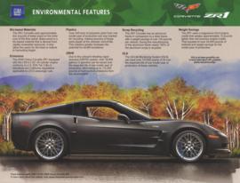 Corvette ZR1 environmental features leaflet, 2 pages, 2009, USA, English language