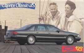 Caprice Classic LS Sedan, US postcard, standard size, 1993
