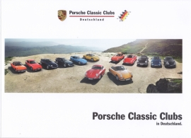 Porsche Classic Clubs Germany brochure, 52 pages, 02/2016, German