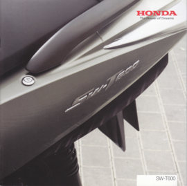 Honda SW-T600 Scooter brochure, 12 pages, about 2013, Dutch language