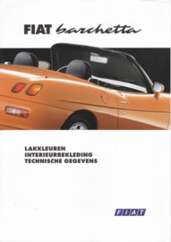 Barchetta Cabriolet colours & specs. brochure, 4 pages (A4), 06/1995, Dutch language