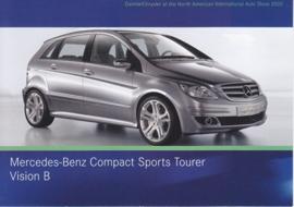 Mercedes-Benz Compact Sports Tourer Vision B, A6-size postcard, NAIAS 2005