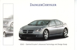ESX3 Advanced Technology and Design Study, A6-size postcard, Geneva 2000 French