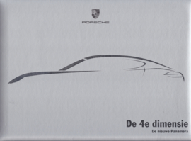 Panamera luxury brochure, 44 pages, 07/2009, hard padded covers, Dutch language
