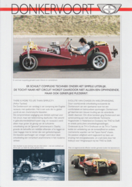 Donkervoort vehicle testing leaflet, 2 pages, about 1994, Dutch language