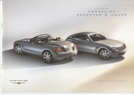 Crossfire Coupe & Roadster specifications & prices brochure, 8 pages, 06/2004, Dutch language