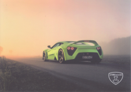 Zenvo TS1 sports car, A5-size postcard, factory-issued, 2018, month: August