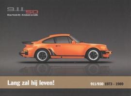 911 (930 Turbo) 1973-1989, A5-size postcard, 2013, Dutch