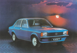 Kadett brochure, 4 pages, 09/1977, Dutch language