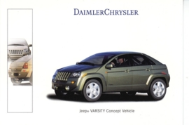 Jeep Varsity Concept vehicle, A6-size postcard, Geneva 2000 French