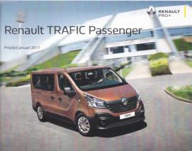 Trafic Passenger Van pricelist brochure, 12 pages, 01/2017, Dutch language