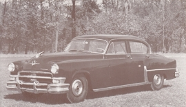 Custom Imperial 4-Door Sedan, US postcard, standard size, 1953, Dealers Supply # 68-H