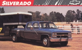 Silverado Crew Cab,  US postcard, large size, 19 x 11,75 cm, 1989