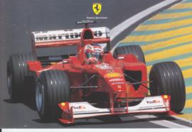 Formula One autogram postcard with driver Rubens Barrichello, 2000, # 1587