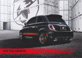 500 Abarth, US-issued  picture card, size 17,5 x 12,5 cm, 2012