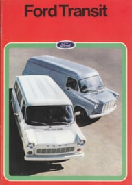 Transit Van brochure, 24 pages, 05/1974, Dutch language