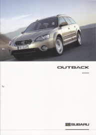 Outback accessories brochure, 8 pages, German language, 10/2003