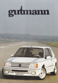 205 Gutmann Tuning folder, 4 pages, A4-size, about 1986, German language