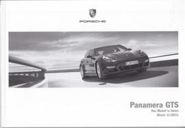 Panamera GTS pricelist, 94 pages, 11/2011, German