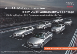 Used car models, DIN A6 double postcard, German language, 2007