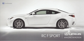 RC F Sport Coupe, 21 x10,5 cm, Swiss postcard, about 2015