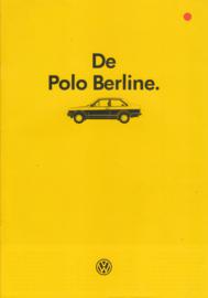 Polo Classic 2-door brochure, A4-size, 20 pages., 8/1985, Dutch language (Belgium)