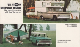 Chevy Trucks, US postcard, standard size, 1965, # 16