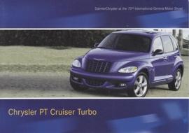 Chrysler PT Cruiser Turbo, A6-size postcard, Geneva 2003