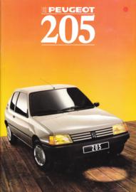 205 Hatchback brochure, 34 pages, A4-size, 1988, Dutch language