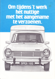 1100 Van VF2 & Pick-ups, 6 pages, about 1974, Dutch language, Belgium