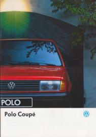 Polo Coupé brochure, A4-size, 20 pages + specs., 01/1993, Dutch language