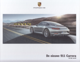 911 Carrera new model (991 II) brochure, 56 large pages, (A4), 09/2015, hard covers, Dutch