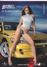 2Fast2Furious, the movie, German freecard by Edgar, # 6338, 2003