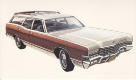 Marquis Brougham Colony Park Station Wagon, US postcard, standard size, 1972